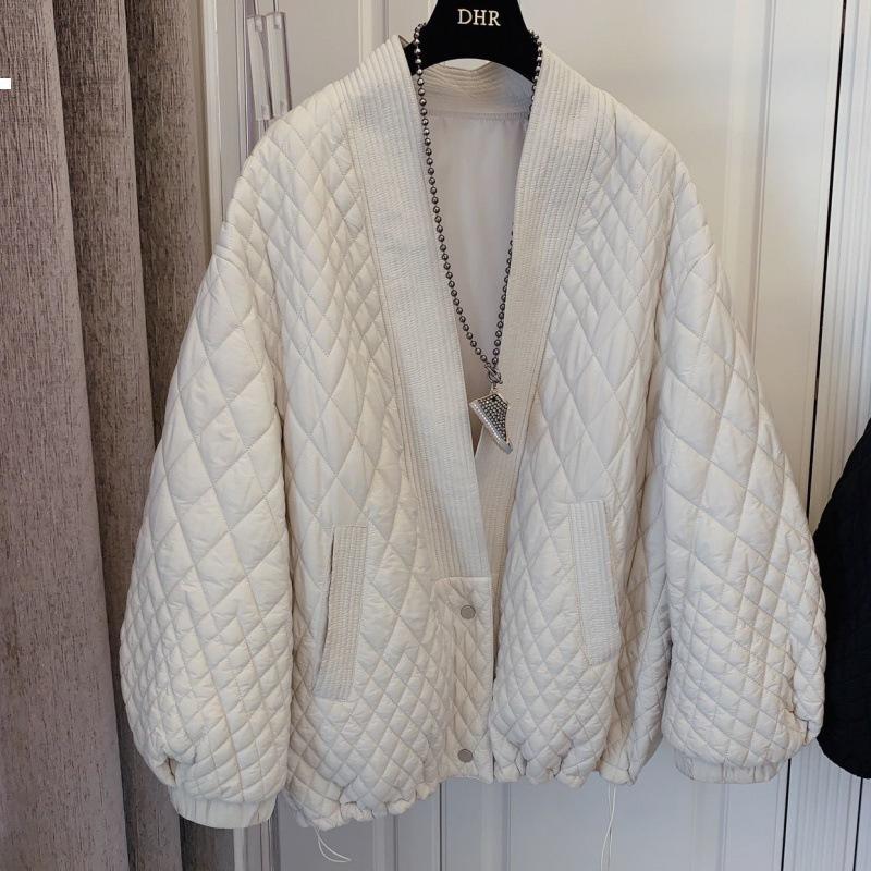 Yeni TRACT 2021 V-Ayrılık Ceket Sonbahar Kadın IWNTER KPOP Tarzı Bayan Giyim Vintage 3WC3 DCW0