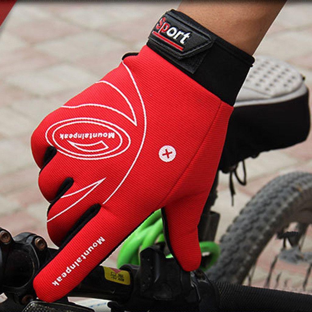 Bisiklet Motosiklet Yarışı Eldiven İçin Erkek Bayan Spor MTB Dağ Bisikleti Spor Tam Parmak Eldiven