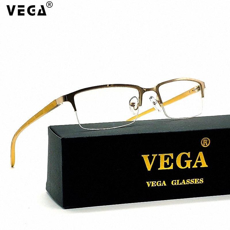 VEGA Gözlük Dikdörtgen Oyun Bilgisayar Gözlük Kadınlar Erkekler Yarı çerçevesiz Mavi Işık Gözlük Alaşım Mavi VG249 o62J #