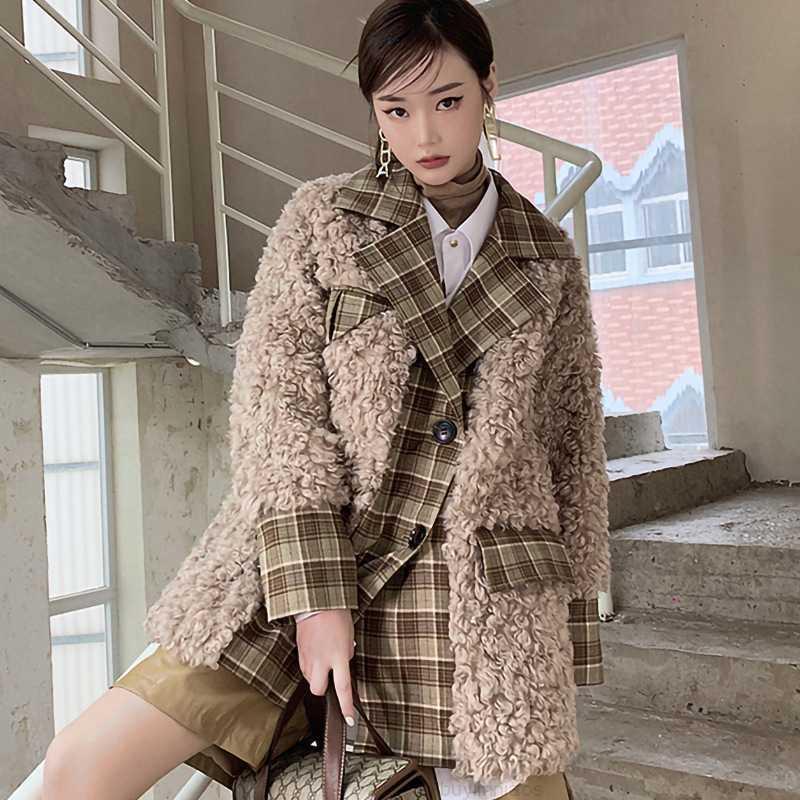 Большой M2108 Новый зимний воротник Уличный костюм Размер женской одежды Означает тенденцию тонкой шубы
