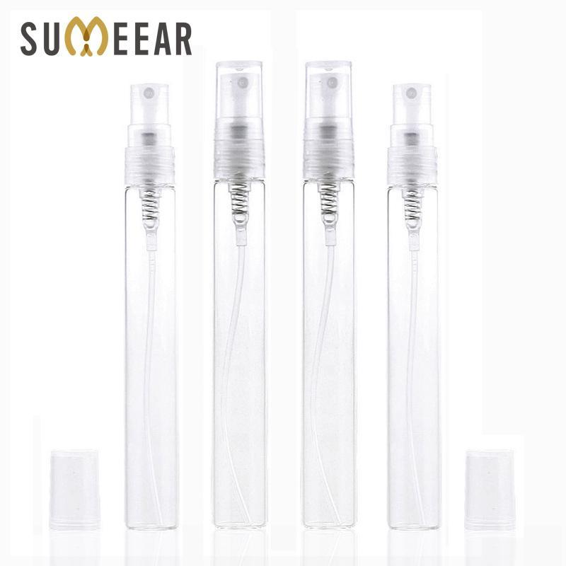1000 Piece / lote 10 ml botella de spray de viaje de vidrio portátil Botellas de perfume atomizador Contenitori Cosmetic Bomba de parfum mujeres