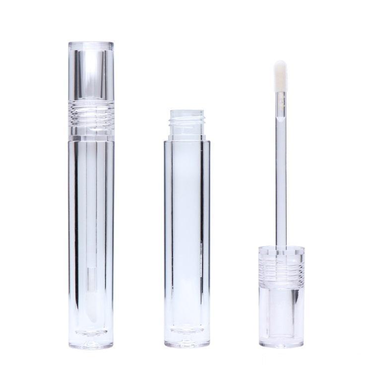 Упаковочные бутылки Глянцевая трубка для губ Пустой 7,8 мл Трубки для губ круглые прозрачные губы глянцевые пробирки с палочкой прозрачный W006 100 шт.