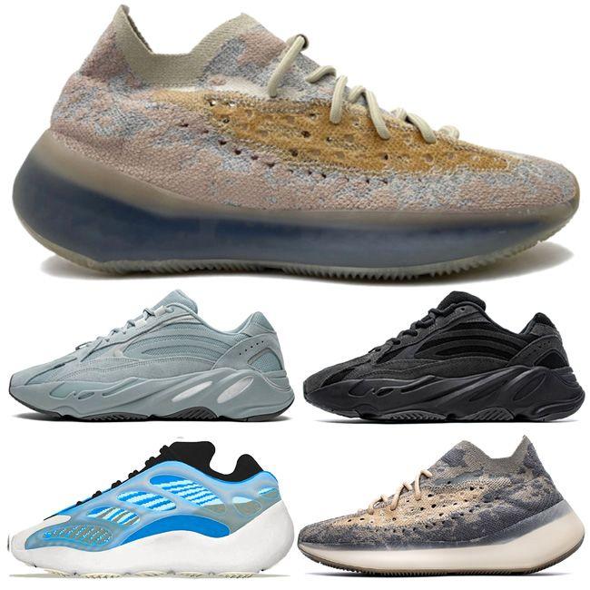 Trendfarben 700 V3 Srphym Arzareth Alvah Schuhe zum Verkauf Calcit Glow Lmnte Lmnte Onyx Pfeffer Reflektierende Turnschuhe Nebel Wave Runner Vanta Black