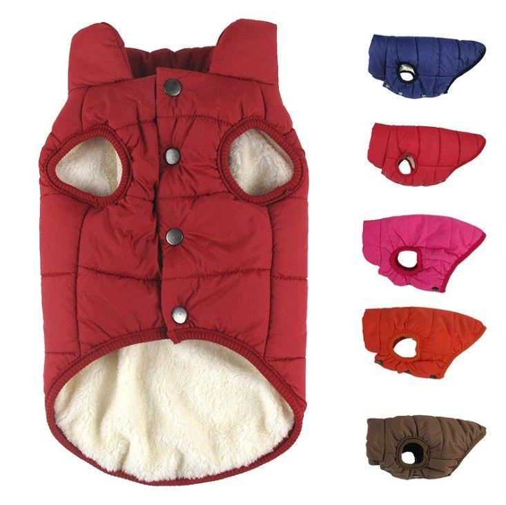 ropa de abrigo de invierno para mascotas ropa para perros perros de invierno ropa de abrigo para perros pequeños gran capa del perro ropa de invierno de Navidad