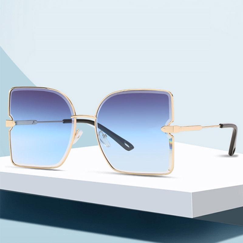 Солнцезащитные очки Унисекс моды Негабаритные Женщины Известный Дизайн Шейты Швыкие Солнцезащитные Очки Женские Мужчины Зоннебриль Дамы Лифт Лифт УВ4001