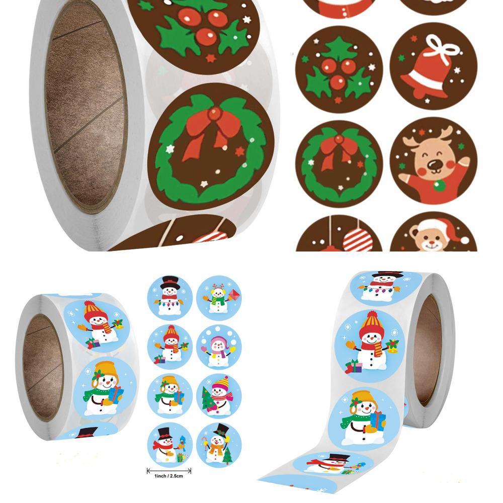 Pcs 500 bonecos de neve Name Tags Seal Presente Etiquetas presente decalques Pacote de Natal Xmas Adesivos Nv84
