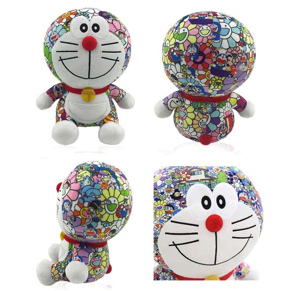 Blue Anime Plush Murakami толстый Dingdang робот кот милая дорамона кукла детская подушка