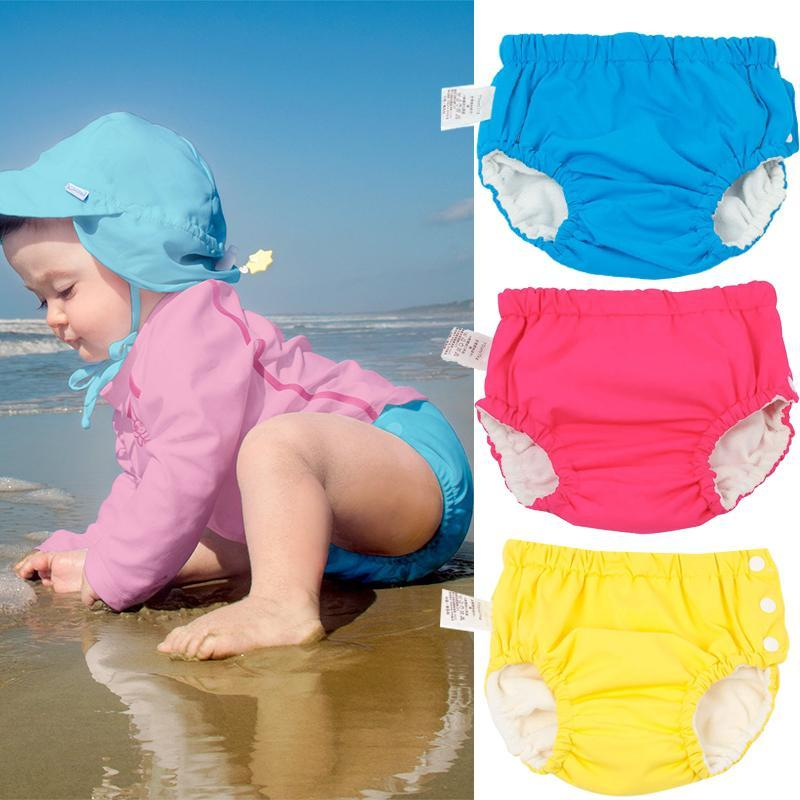 Washable Reusable diaper Baby Swim Diapers Waterproof Elastic Cloth Diapers Pool training pants Swimming Cover Kids Nappies
