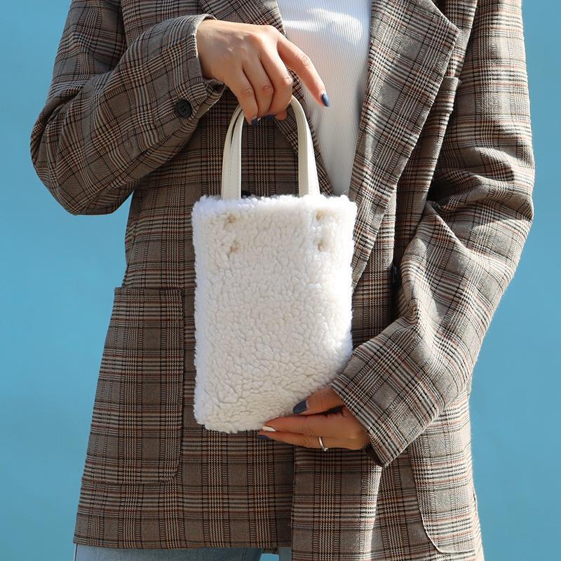 Peluche y otoño para mujeres bolsas de bolsas bolsa de moda Bolsos de moda Crossbody de invierno Lujo 2021 Hombro Jvduw