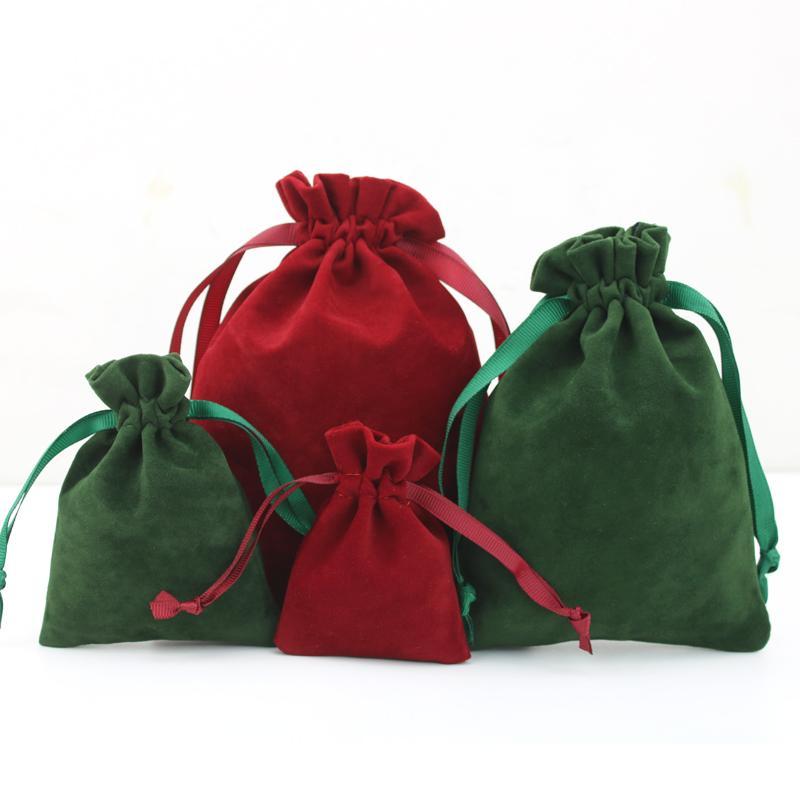 Torbalar Perakende Dükkanı Ambalaj İpli Mücevher Kozmetik Craft Ürünleri ile Kırmızı Şarap Kadife Toz geçirmezlik Çanta Hediye Paketleme Bag Dışarıda ver