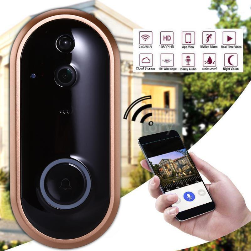 سمارت واي فاي الذكية حلقة الباب الهاتف الفيديو باب الجرس wi-fi جرس الباب الكاميرا للشقق ir إنذار الأمن اللاسلكي كاميرا للماء