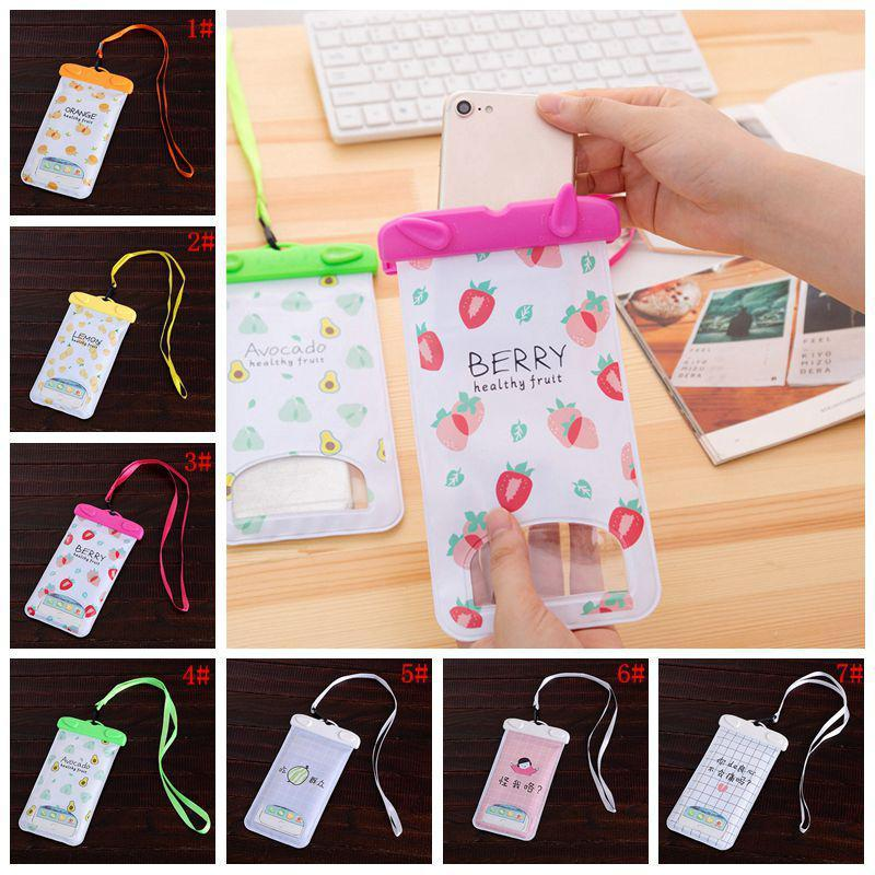 Phone Waterproof Bag PVC Protective Mobile Phone Bag Diving Pouch Swimming Sports 5.5inch Universal Phone Case For iphone6 6plus DBC DH1440