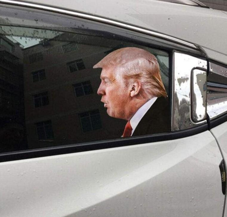 Election Trump Decals Car Stickers Biden Funny Left Right Window Peel Off Waterproof PVC Car Window Decal Party Supplies 60pcs KKF1943