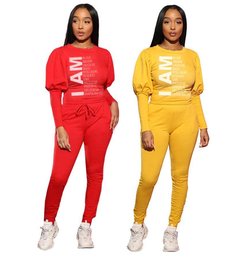 Mulheres de vestuário roupa de jogging de manga comprida 2 peças conjuntos de roupas s-2XL do hoodie calças sportswear Leggings pullover cair treino de inverno 4182