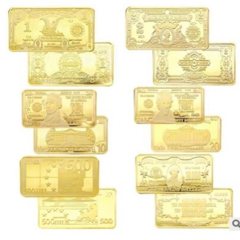 Chapado por diferentes PC Número de 24k con 1 bar magnético 10 oz oro en serie de plata de oro lingotes Real Non Matthey Amerian JM Pure Johnson Bbyyz