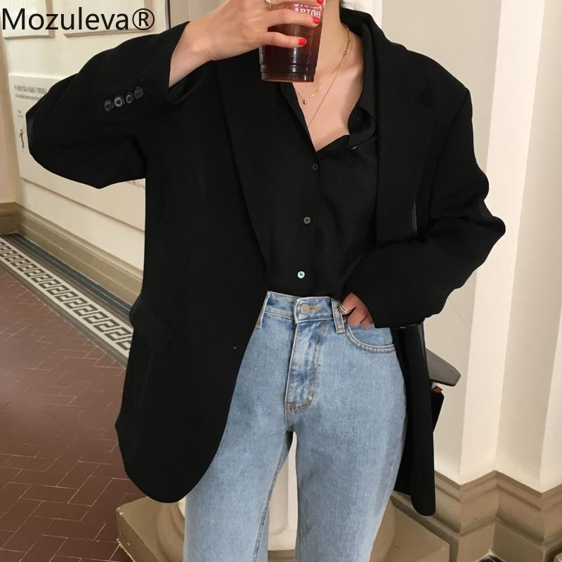 Mozuleva Loose Outerwear Women Suit Jacket Spring Summer Female Jacke Elegant Chic Single-breasted Women Blazer Femme 201013