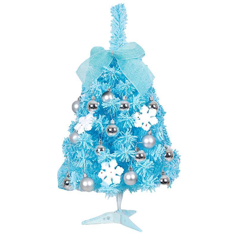 Christmas Tree Snow Color Changing Led Lights Silver Ball Pine Tree New Diy Christmas Gifts Desktop Xmas Pine Plant