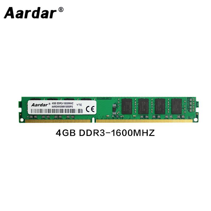 RAMS Aardar Memory Memory RAM DDR3 Ordinateur 4GB 8GB 1333MHz 1600 MHz pour le bureau