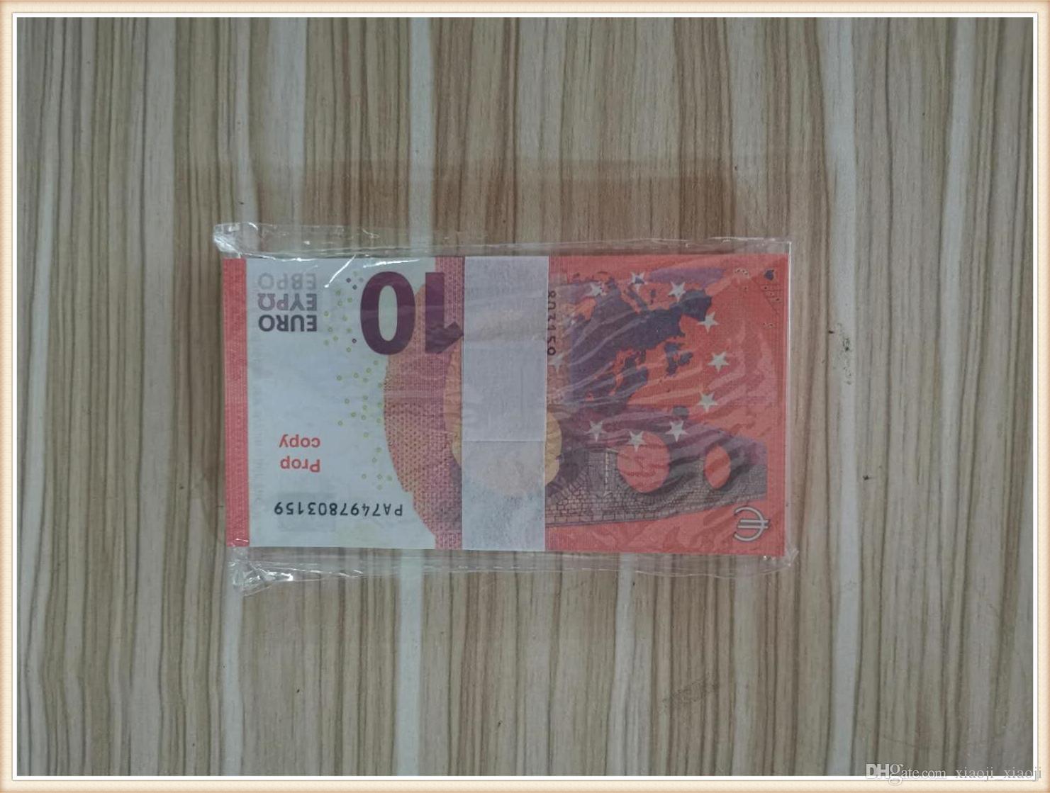 20 Qualitätsgeld 10 Billet Money Televison 50 100 und der beste Filmprop Euro, Dollar, Sterling Requisiten Geld Spielen Sie Geld141 Wrljs