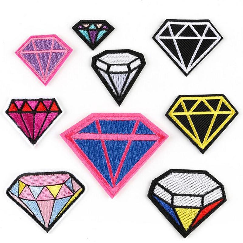 Parche de diamante bordado para ropa Bordado Niño Ropa para niños Parches de coche parches bordados parches de diamante con parches