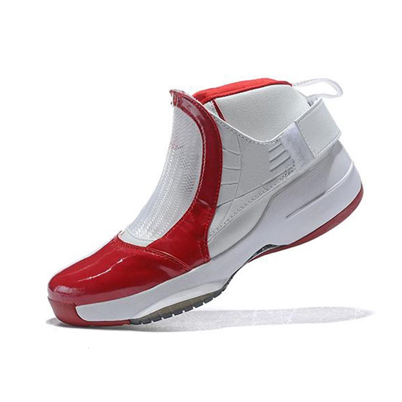 Gris 19 19s zapatos para hombre de baloncesto Juego de la gripe Taxi Playoff azul francés Gimnasio Rojo Blanco Negro Maestro Gs Barons Lobo zapatillas Bziy