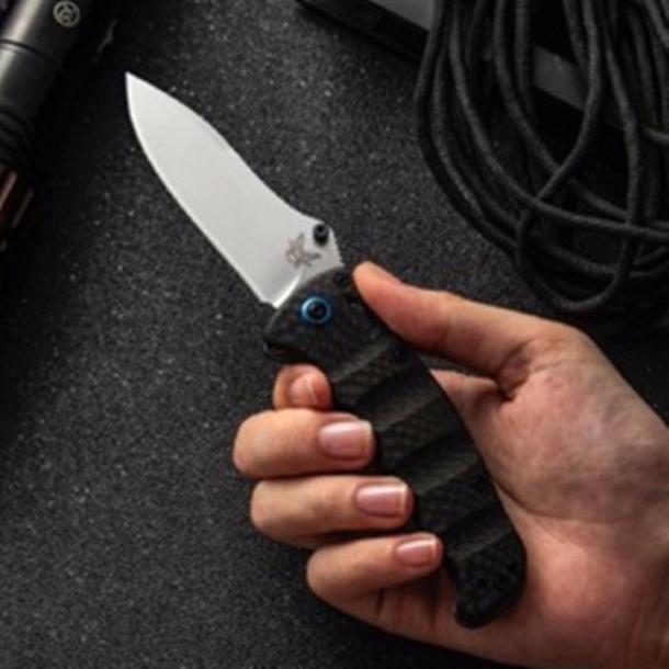 벤치 메이드 484S-1 bm484 M390 블레이드 탄소 섬유 AXISs 전술 자기 방어 접는 EDC 포켓 나이프 캠핑 나이프 사냥 칼을