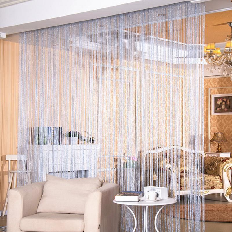 200x100 Cm Luxury Crystal Curtain Flash Line Shiny Tassel String Door Curtain Window Room Divider Home Decoration Cortinas