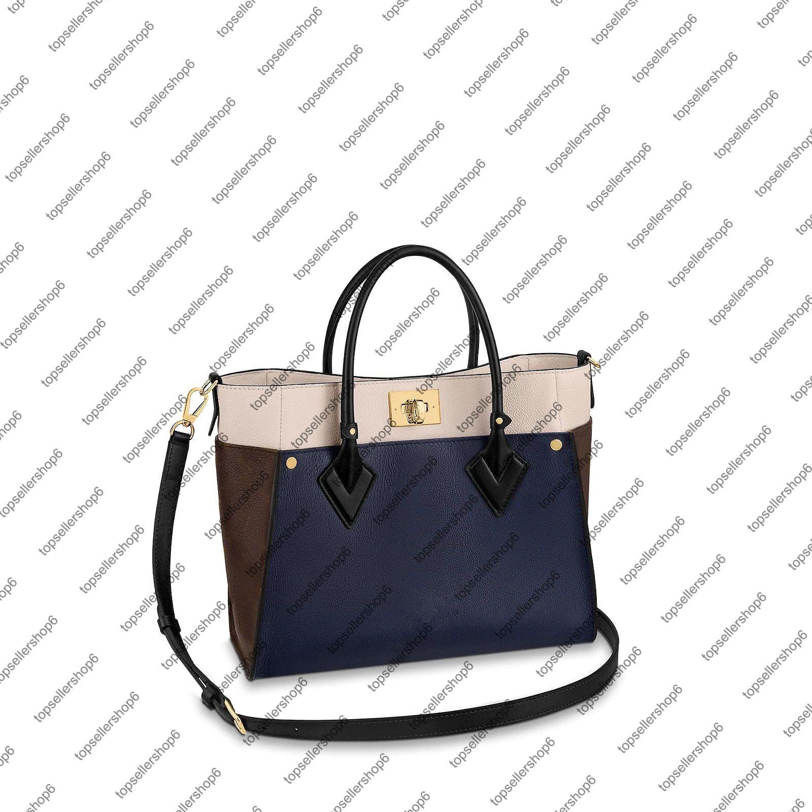 M55933 على جانبي حمل حقيبة أنيقة المرأة جلد طبيعي قماش عبر الجسم حقيبة يد محفظة التسوق حقيبة الكتف