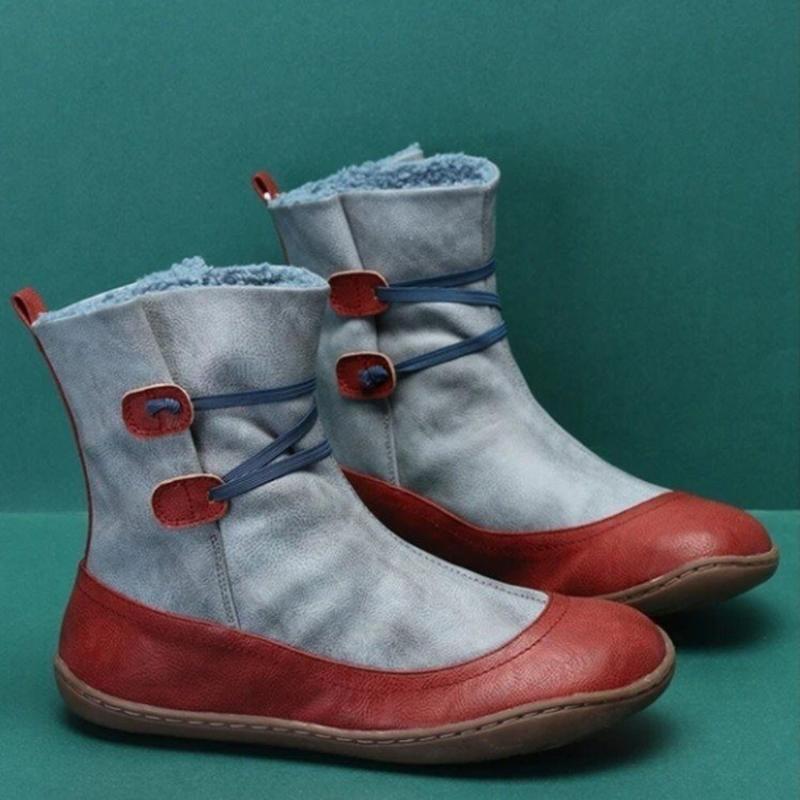 Botas de mujer que restaura maneras Cálido Invierno Con aterciopelada Bare cargadores cómodos señoras forman los zapatos planos de los zapatos ocasionales