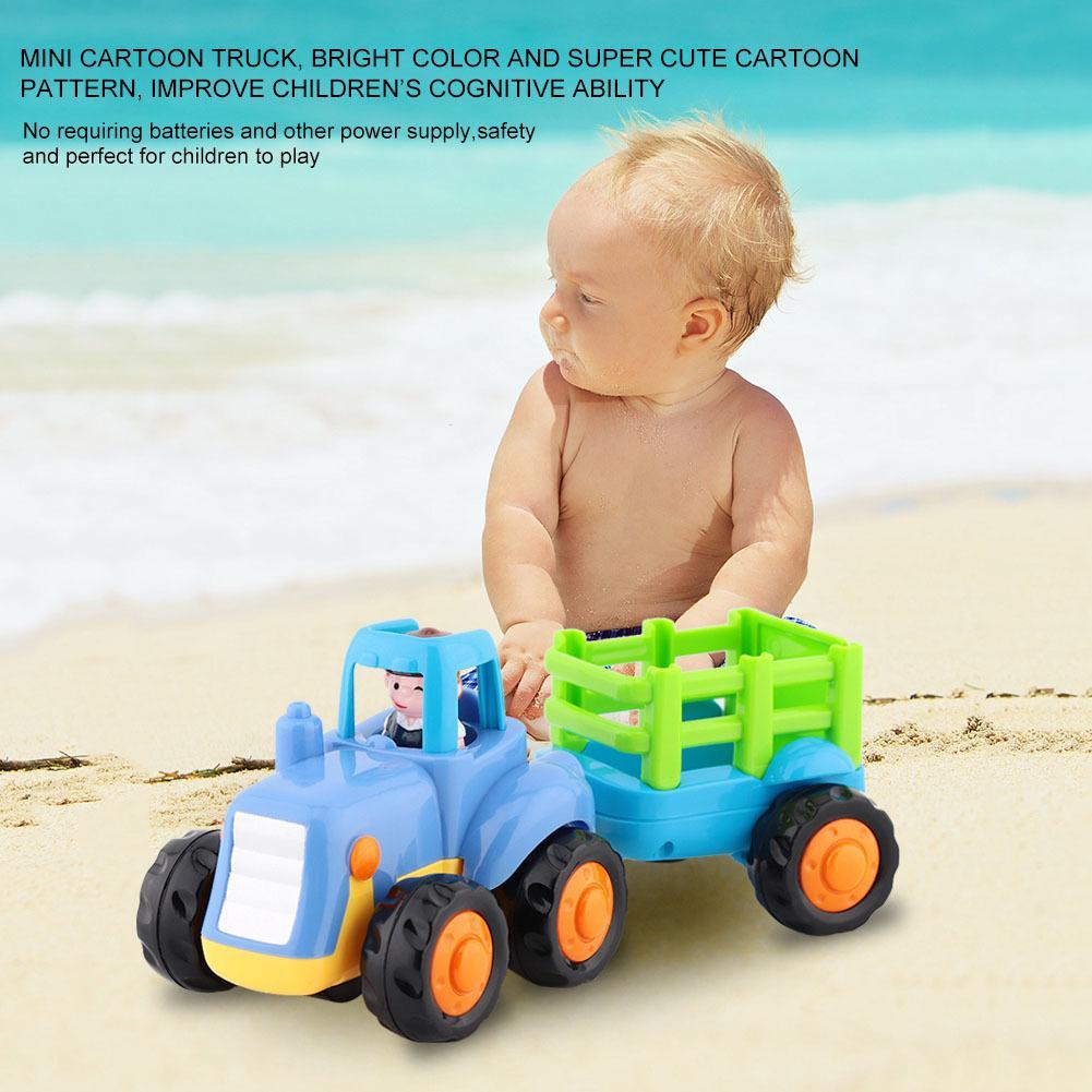 Mühendislik Çocuk Yeni Otomobil Araç Plastik Çocuk Mini Modeli Atalet Damperli Kamyon Traktör Taşıtlar Oyuncak