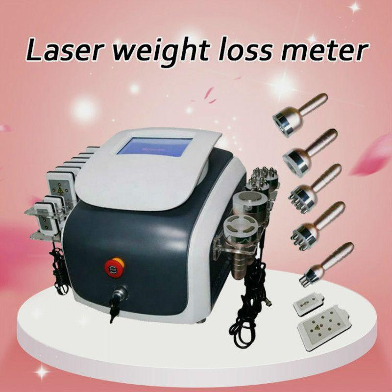 Nueva Promoción de 6 en 1 vacío cavitación ultrasónica de radiofrecuencia Lipo láser adelgaza Máquinas Para Spa Máquina