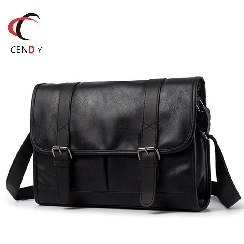 Fashion Business Man Leather Shoulder Bags Travel Briefcase Brand Luxury Messenger Male Laptop Crossbody Men Bag Q0112