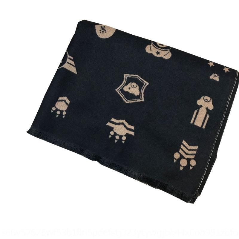 châle automne et hiver modèles Dener foulards transport cachemire hommes écharpe longue section féminine de newdesigner chaude plaine épaisse EjS8