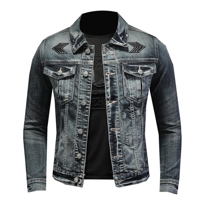 Denim Jacket Men Marke Herbst-Winter-Mode 2020 Qualitäts-Geschäft-beiläufige Jeans-Jacken-Mantel Männer Mäntel Street Kleidung