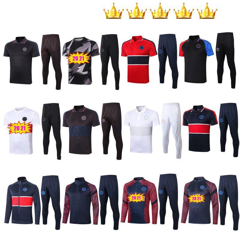 2020 2021 Traje de traje de fútbol Traje de entrenamiento Survetement Waterbreaker Hoodie Camisas de Futebol 20 21 Maillot de pie Jacket Kits