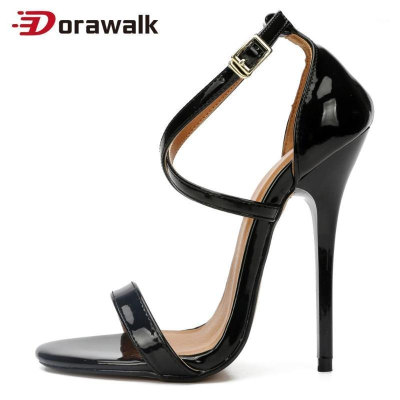Sexy tacchi alti estremi 13 cm plus size 48 donne sottili sandali tallone sottile nero rosso feticcio cross dresser gay trascinamento da unisex shoes1
