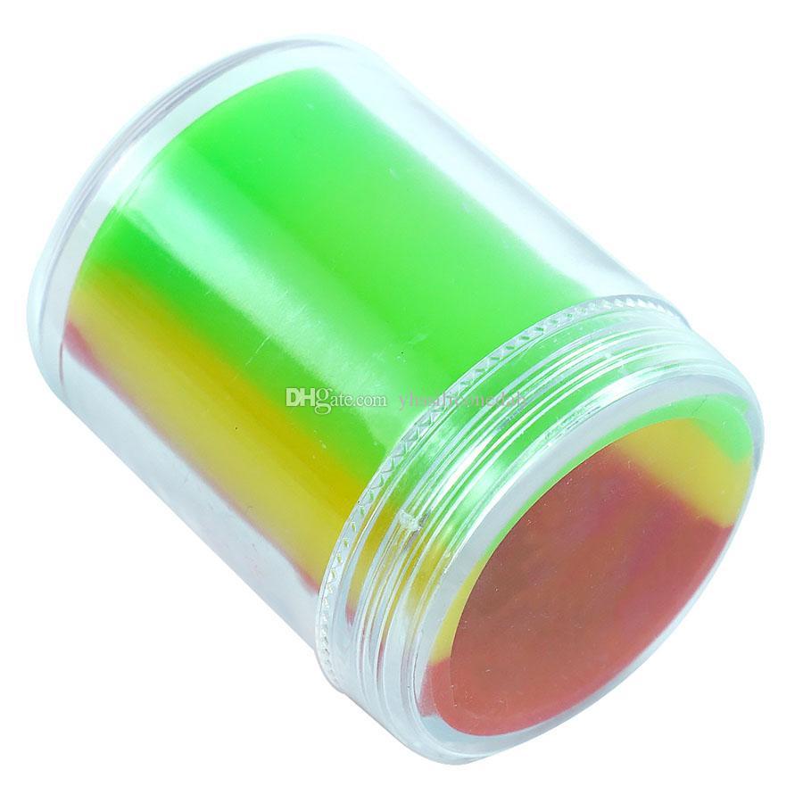 35 ml Silikon Konteynerler Balmumu Konteyner Yapışmaz Kavanoz DAB Kavanozları Plastik Katı Kutu