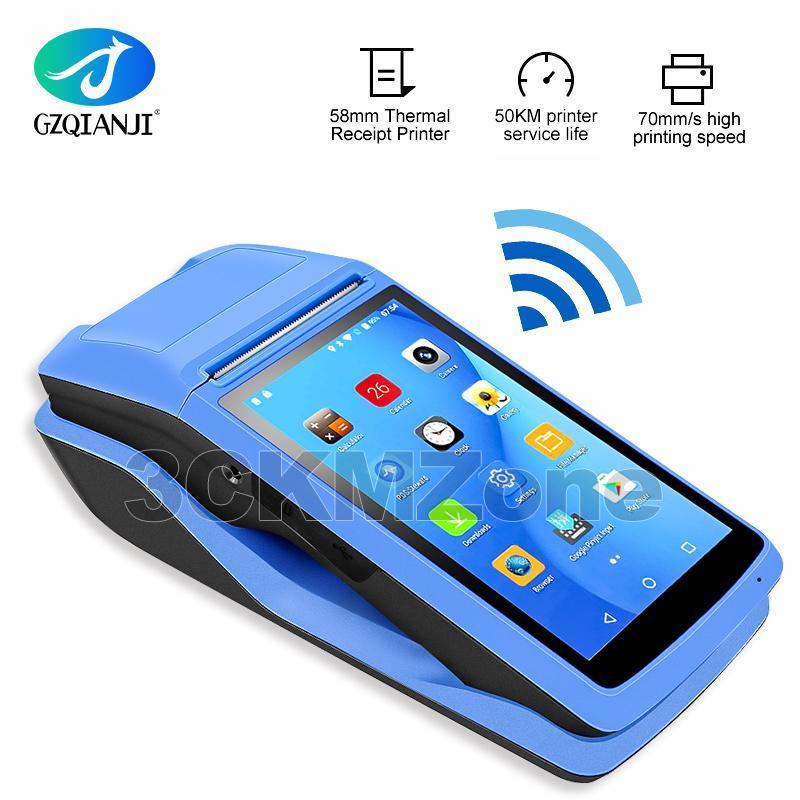 Protable Android 6.0 Sağlam PDA Cep Yazıcı 58mm Terminali PDA 4G WiFi, Bluetooth Kamera hoparlör Makbuz Yazıcı ile