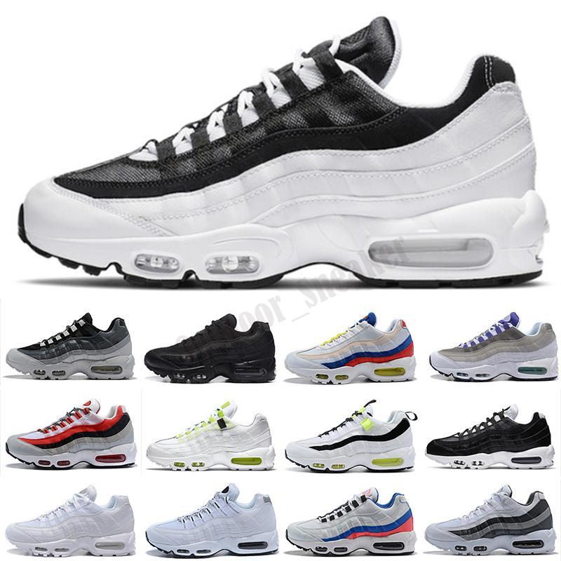 95 Sapatos Triple Black Laser Branco Roxo Aqua Néon Solar Vermelho Mens Mulheres TT Shoes Treinadores Sports Sneakers Tamanho 40-46