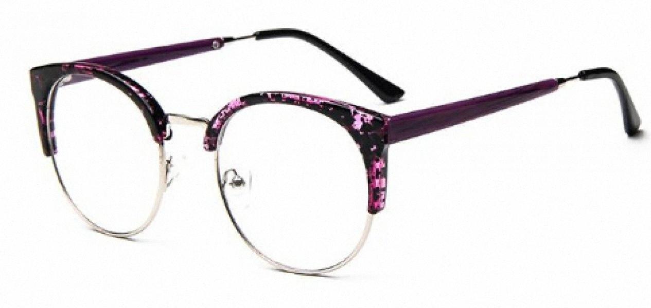 Moda Cat Eye Mezza metallo vetri della pagina per le donne / uomini retro annata i vetri unisex della grande pagina di Slim Viso Eyewear Occhiali A7KT #