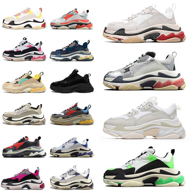 Balenciaga Triple s Plateform Chaussures Designer Sneakers Hommes Femmes Casual Singer Hommes 17Fw Tripe Tripler Triper Black White Formateurs Étoile Vintage Dad Sneakers
