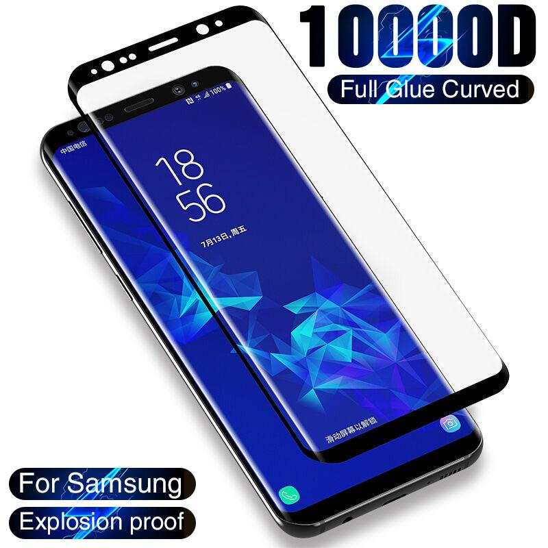 Curved Tempered Glass For Samsung Galaxy S8 S9 S10 S20 Plus Ultra S7 Full Glue Screen Protector on Note 8 9 10 20 Glass