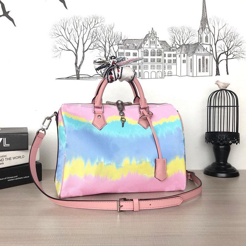 Nouveaux taches à oreiller rapides de haute qualité Handbags en cuir véritable Haute Qualité Sac à main pour femmes Sac à bourses Femmes Crossbody Purs de Travel Dames Sac Opbnj