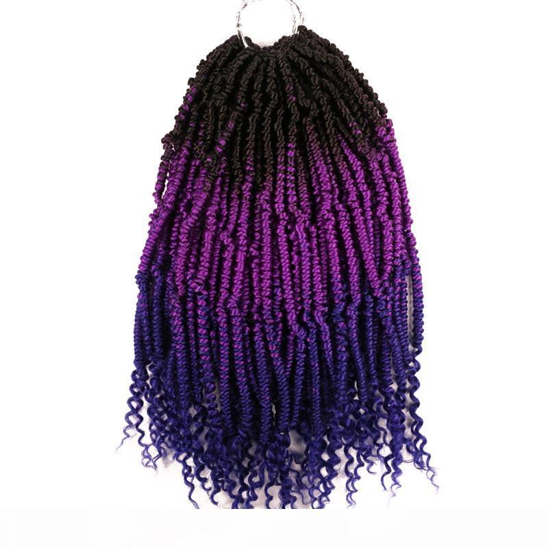 """12"""" Primavera Twist estensioni dei capelli 70g pc Ombre Crochet Trecce sintetico intrecciare i capelli bomba Nubian rimbalzo Twist bomba di capelli di torsione"""