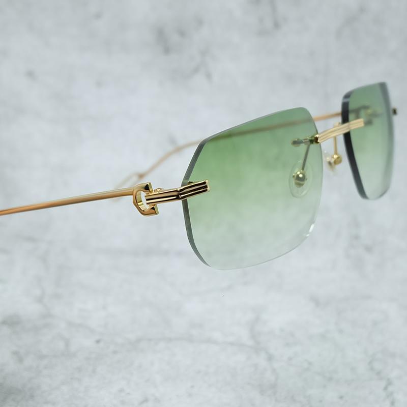 Gafas de sol Carter Diseñador de lujo De Hombre Gafas Para Hombre Sol Men Rimless Polyegon Eyewear Sombras al Por Mayor para Vintage UFFCB RHQVC