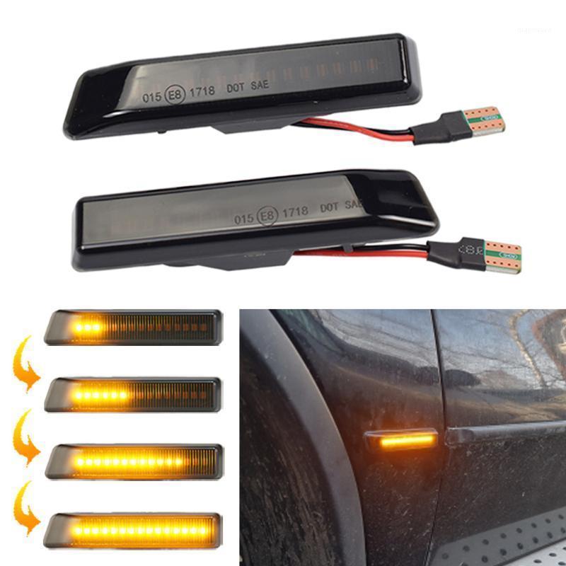 LED dinamik dönüş sinyali yanıp sönen yanıp sönen yan marker arkadan görünüş aynası gösterge ışığı X5 E53 3 Serisi E361 için