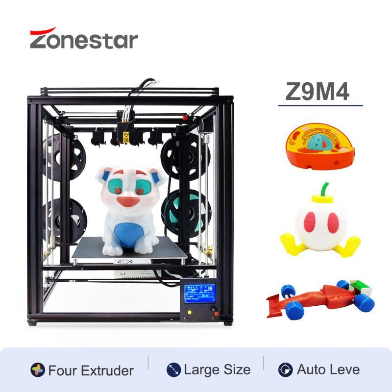Shipping From China 2020 Newest Multi Color 4 Extruders Large Size Mixing Color 4-IN-1-OUT Frame CoreXY Struct Auto Level