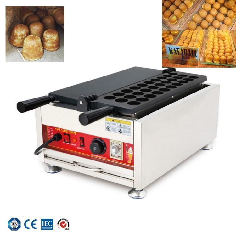 Ekmek Makineleri Dönen 30 adet Topu Şekilli Waffle Makinesi Makinesi Topuzu Kontrol Malezya Snack Kaya Demir Baker Machine1