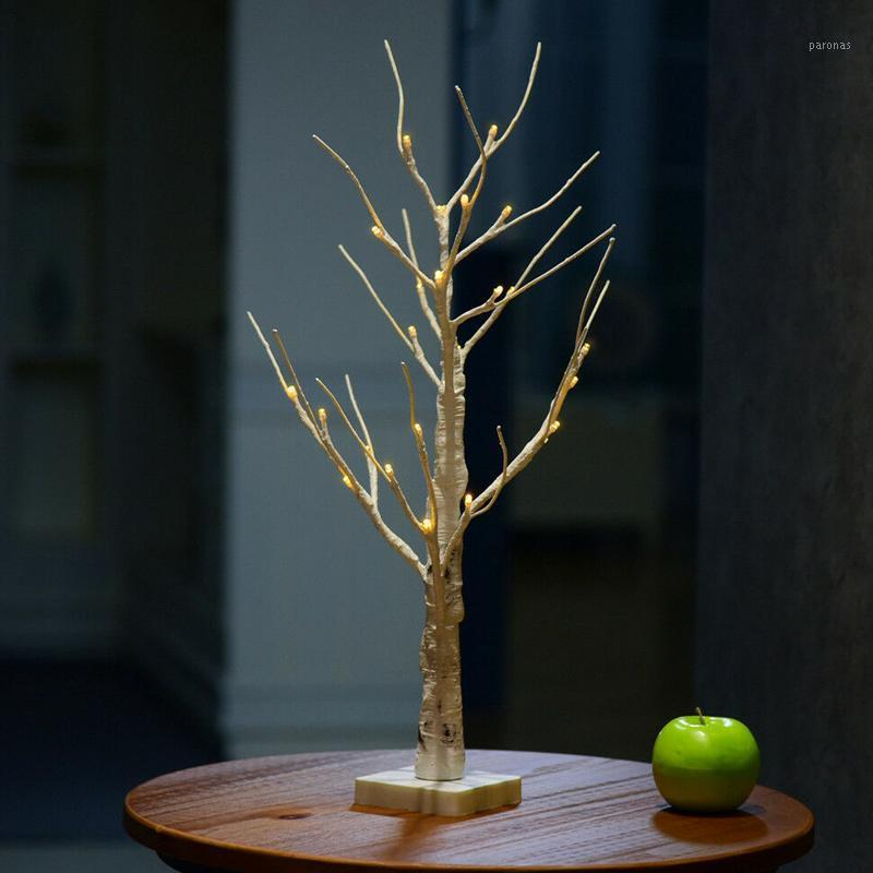 عالية الصمام الفضة البتولا غصين أضواء شجرة أضواء بيضاء دافئة فروع بيضاء لعيد الميلاد حزب حفل زفاف KTC 661