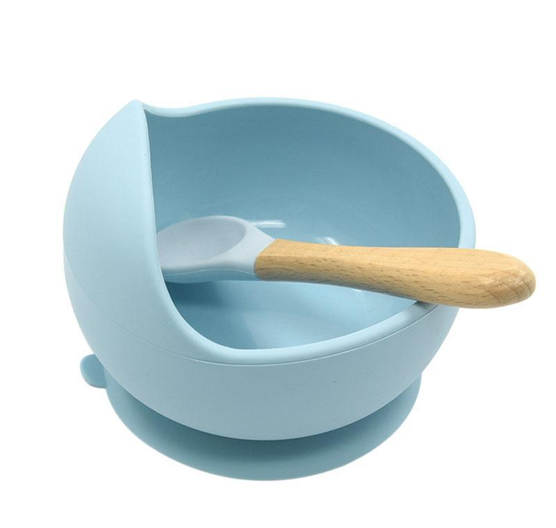 Baby Sile Tableware Сильная присоска Waterprog чаша ложка набор детей всасывающая чаша детская еда шар младенца jlluhh bdetrade